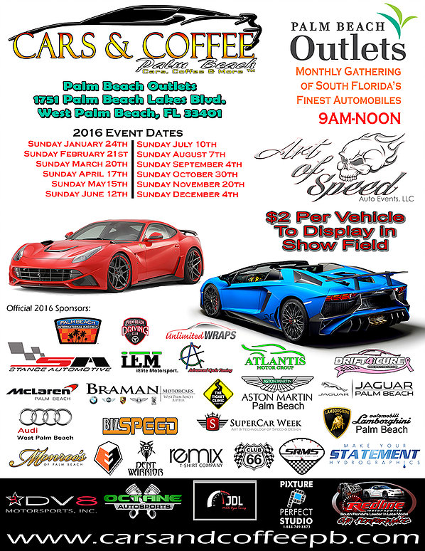 Cars & Coffee Palm Beach @ Palm Beach Outlets | West Palm Beach | Florida | United States