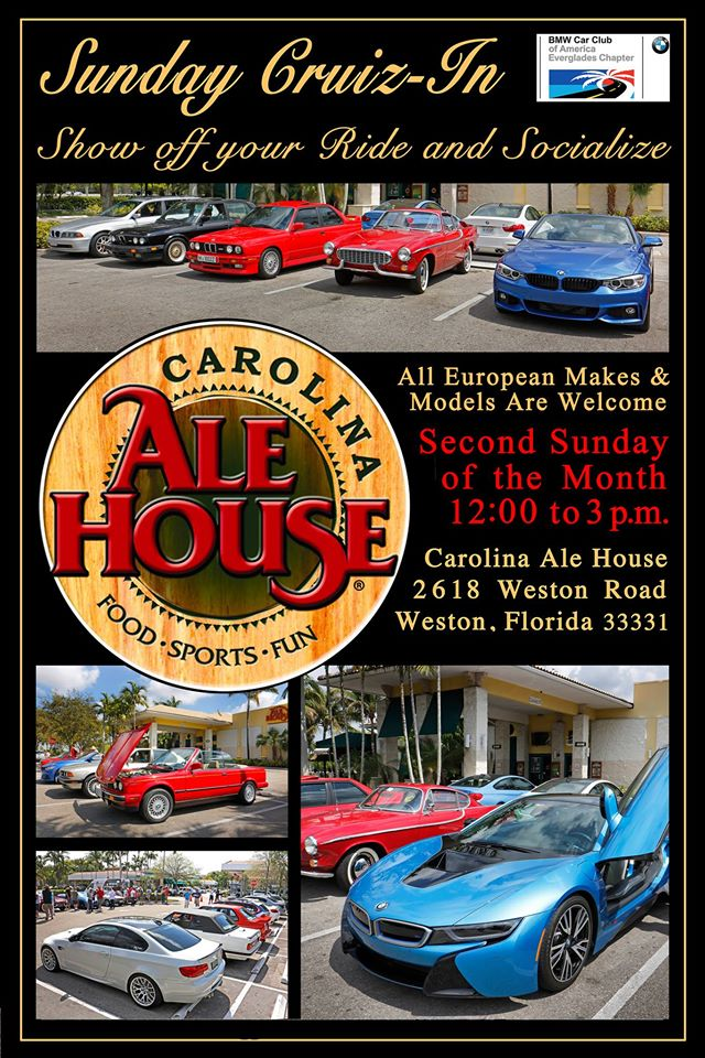 Everglades Chapter Cruiz-In at Carolina Ale House, Weston