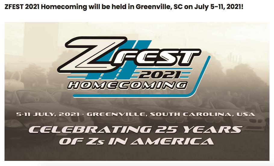 ZFest Celebration 25 Years of Z Cars @ Greenville, SC